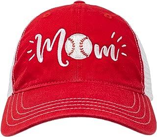 Ann Arbor T-shirt Co. Baseball Mom Hat | Cute Team Color Fan Cap for Women Black Red Blue Green Purple