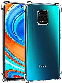 RKINC Case forXiaomi Redmi Note 9S, Crystal Clear Reinforced Corners Soft TPU Bumper Cushion + Hybrid Rugged Soft Transpa...