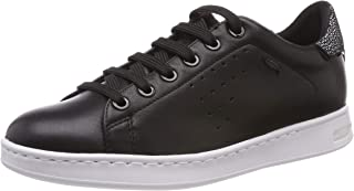 GEOX D Jaysen A Womens Leather Trainers/Shoes - Black