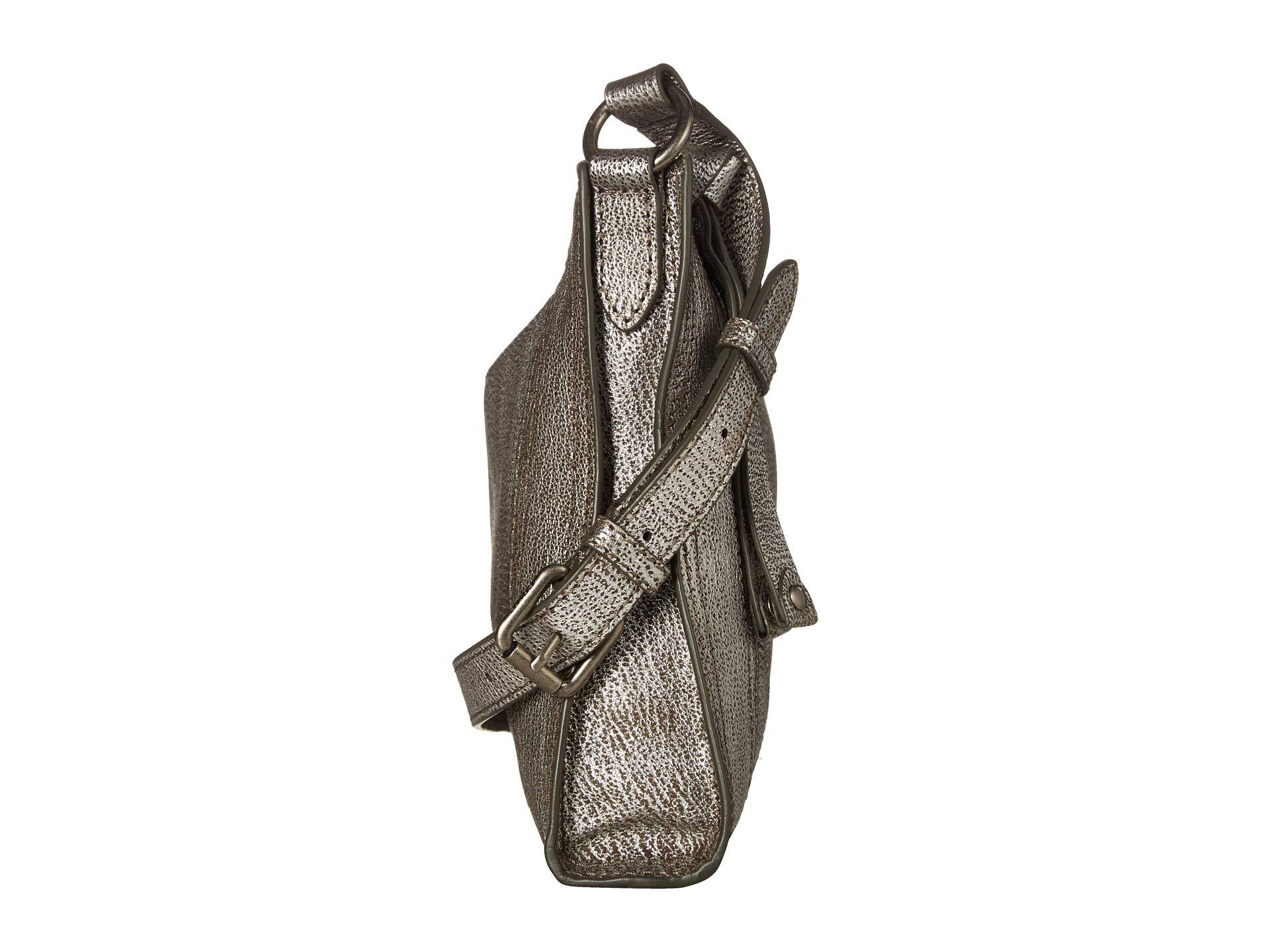 Metallic Melissa Frye Tumbled Crossbody Silver Zip XqnYqw4x8f