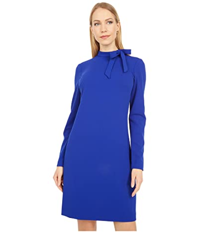 Calvin Klein Tie Neck Sheath Dress (Ultramarine) Women