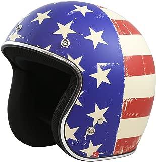 TORC T50 Route 66 Old Glory Open Face Helmet (Cream, Medium)