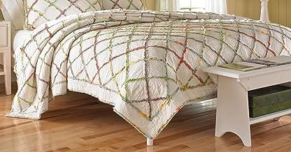 Laura Ashley Ruffled Garden Cotton Quilt, King