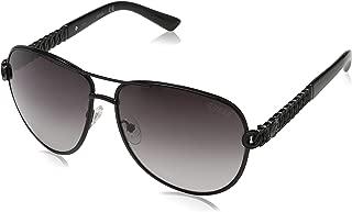 Guess Women's Fashion Sun GU 7404 01B Sunglasses, Smoke, 59 mm