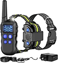 FunniPets Dog Training Collar, with Walkie-Talkie Function 2020 Upgraded Voice Training Collar for Dogs 2600ft Range Water...