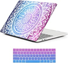 MacBook Pro 13 Case 2018 2017 2016 Release A1989/A1706/A1708,iCasso Rubber Coated Plastic Case and Keyboard Cover for Newest MacBook Pro 13