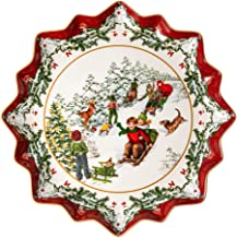 Villeroy & Boch Toys Fantasy Deep Sleigh Ride Pastry Plate, 39 x 39 x 3,5 cm, White