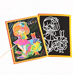 【JLM-Waroom】 5 PCS 13 x 9.5 cm  DIY Scrap Drawing Book  Two-Sided use  Coloring Card Paper Children's Painting Lear...