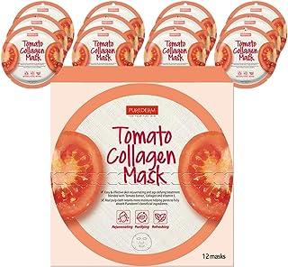 PUREDERM Tomato Collagen Mask (12masks) / Facial mask/Circle mask/Collagen mask/Vitamin mask/Tomato mask