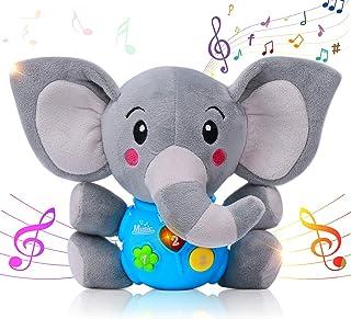 HomeMall Sooth Juguete de peluche para bebé, juguete educativo de aprendizaje musical sensorial, juguete para bebé, música y luz para arriba para niños de 0 a 36 meses y niños de 1 año