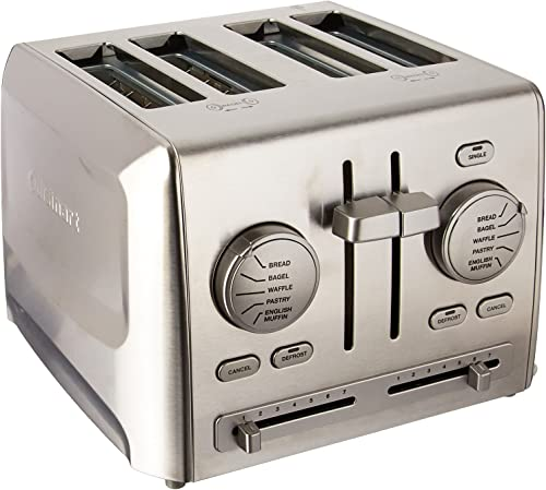popular Cuisinart outlet online sale popular CPT-640 4-Slice Metal Toaster, Stainless Steel sale