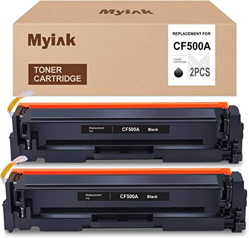 new arrival MYIK Compatible Toner Cartridge Replacement outlet sale for HP 202A CF500A for Laserjet Pro sale MFP M281fdw M254dw M281dw M280nw M281cdw(2 Pack, Black) sale