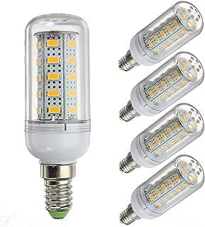 COB LED de maíz Bombilla LED de 12 voltios y 6 vatios, G9 / E12 / E14 / E27 12-80v de bajo voltaje, bombilla 6w - Equivalente halógena de 40w - Sistema solar de red sin conexión Luces LED de 5 unidade