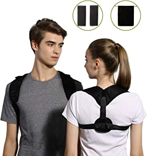 Back Posture Corrector for Women Men - Back Brace Straightener Posture Corrector for Neck & Shoulder Pain Relief -Invisible Upper Posture Brace for Spinal Alignment & Posture Support (Universal)