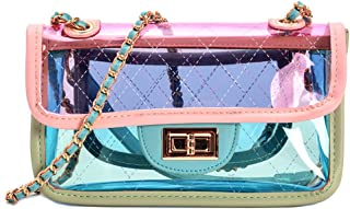 Bright Color Women's Transparent Cross Body Bag Summer Jelly PVC Clutch Purse Beach Bag