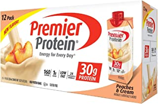 Premier Protein High Protein Shake, Peaches & Cream (11 fl. oz., 12 pk.) (2 pack)