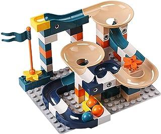 YOUPIN 83-332PCS Marble Race Run Bricks Duploed Big Size Building Blocks Funnel Slide Blocks DIY Bricks Toys For Children ...
