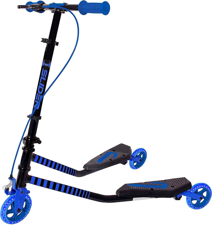 Patinete Slider Fliker de 3 ruedas plegable con diseño de mariposa con freno