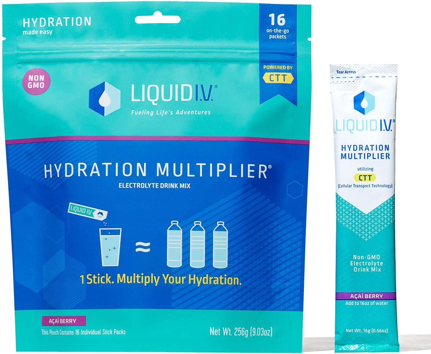 Liquid I.V. Hydration Multiplier Powder - Max Product 69% OFF Berry Acai