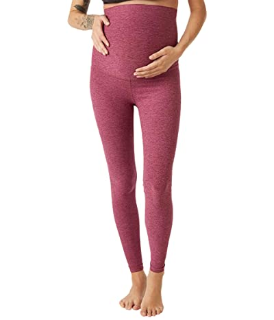Beyond Yoga Maternity Empire Waisted Spacedye Midi Leggings (Desert Berry/Blush Blooms) Women