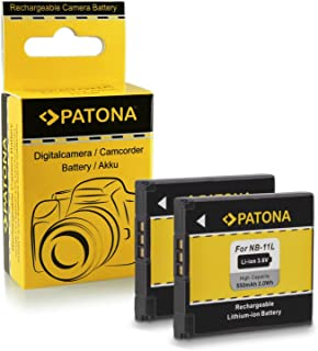 2x Batería NB-11L para Canon Ixus 125 HS | 132 | 135 | 140 | 240 HS - PowerShot A2300 | A2400 IS | A2500 | A2600 | A3400 IS | A3500 IS | A4000 IS
