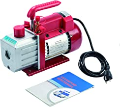 OrionMotorTech 4.5CFM Vacuum Pump 1 Stage for AC HVAC Refrigerant Recharging, 1/3HP, 1/4 inch Flare, 1/2 inch Acme Inlet