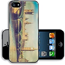 MSD Premium Apple iPhone 5 iPhone 5S Aluminium BackplateSnap Case Vintage looking Westminster Bridge panorama with the Houses of Parliament and Big Ben in London UK Image ID 27184069