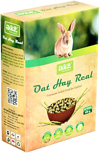 JiMMy Pet Products Oat Hay Real High Fiber Pellet Rabbit Food 400 Grams