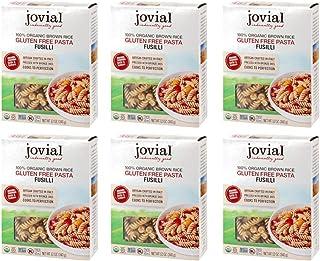 Jovial Fusilli Gluten Free Pasta, 12 oz (Pack of 6)