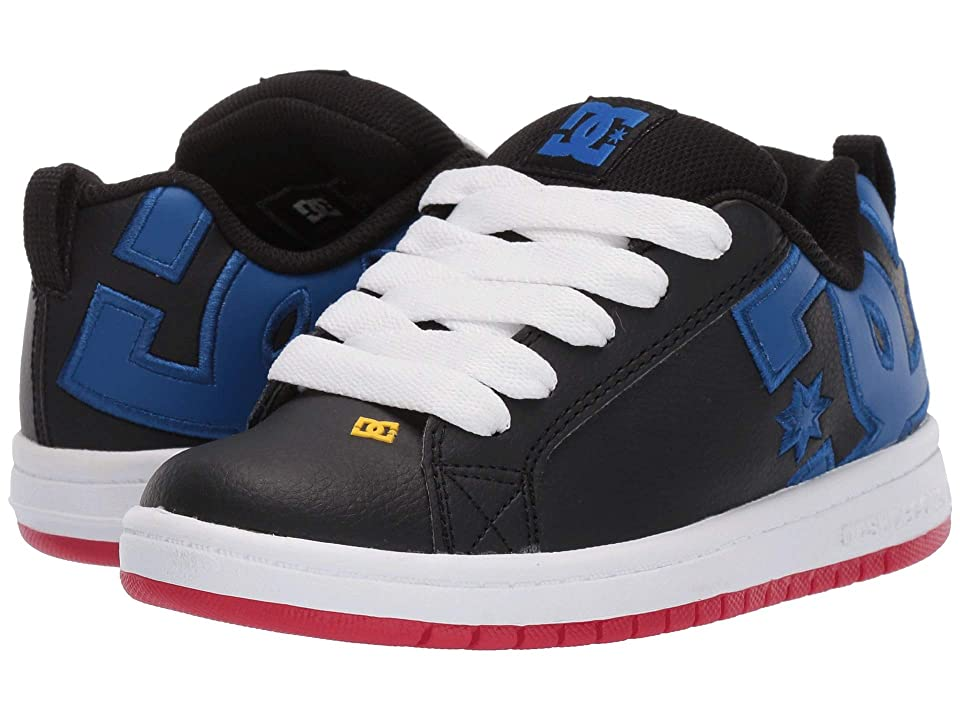 DC Kids Court Graffik (Little Kid/Big Kid) (Navy/Blue/White) Boys Shoes