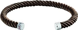TOMMY HILFIGER MEN'S STAINLESS STEEL & BROWN LEATHER BRACELETS -2790220