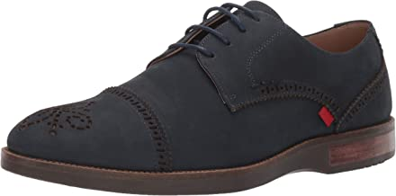 Marc Joseph New York Mens Genuine Leather Fulton Street Oxford, Navy Nubuck 10 M US