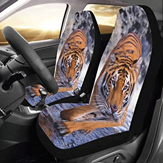 Artsadd Tiger Fabric Car Seat Covers (Set of 2) Best Automobile Seats Protector