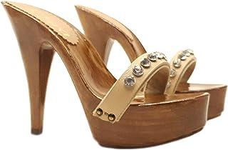 Sandali con GIOIELLO - cinturino regolabile | Tacco 13 cm - K9007 BEIGE