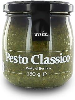 Ursini Salsa Pesto clásica con ajo - 180 gr (Paquete de 2 Piezas)