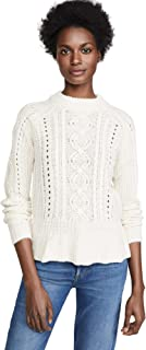 Scotch & Soda Maison Scotch Women's Chunky Cable Peplum Sweater