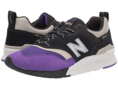New Balance Classics 997H (Black/Prism Purple Synthetic/Textile) Men