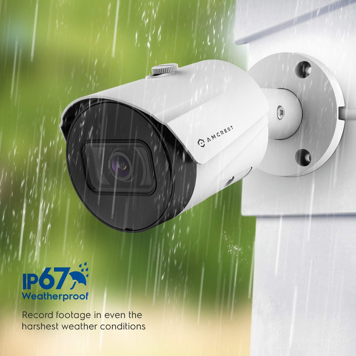 Amcrest UltraHD 5MP Outdoor POE Camera 2592 x 1944p Bullet IP Security Camera, Outdoor IP67 Waterproof, 103° Viewing Angle, 2.8mm Lens, 98.4ft Night Vision, 5-Megapixel, IP5M-B1186EW-28MM (White)