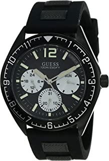 GUESS Mens Quartz Watch, Analog Display and Silicone Strap - W1167G2