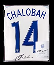 Nathaniel Chalobah Official England Back Autographed Signed 2016-17 Home Shirt