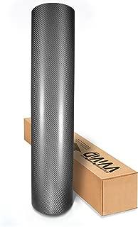VViViD Gunmetal Dark Grey 4D True R Semi-Gloss Carbon Fiber 17.75 Inches x 60 Inches Vinyl Wrap Roll XPO Air Release Technology