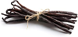 10 Vanilla Beans - Whole Extract Grade B Pods for Baking, Homemade Extract, Brewing, Coffee, Cooking - (Tahitian)