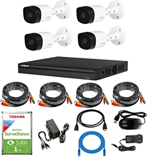 5MP HD Outdoor Security Camera Dahua 4 Channel CCTV Security System Kit G1/ Surveillance camera/Night Vision/Face Detectio...