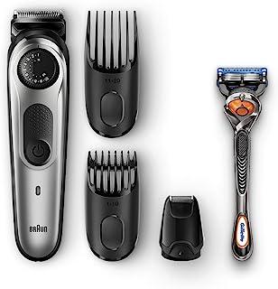 Braun BT5065 Beard Trimmer & Hair Clipper, Mini Foil Shaver Attachment, Black/Silver