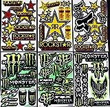 6 bogen Aufkleber n-Zb selbstklebend Stickers rockstar energy drink BMX moto-cross decals...