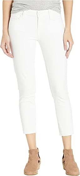 Skyline Skinny Crop Raw Hem in Crisp White