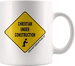 Christian Under Construction God's Not Done With Me Yet Coffee Mug (11 oz. white)