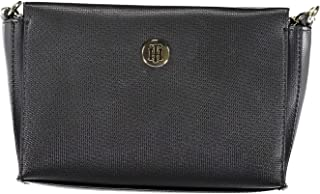 05d52706 Tommy Hilfiger Effortless Saffiano Xover, Women'S Cross-Body Bag, Black,  6X18X25 Cm