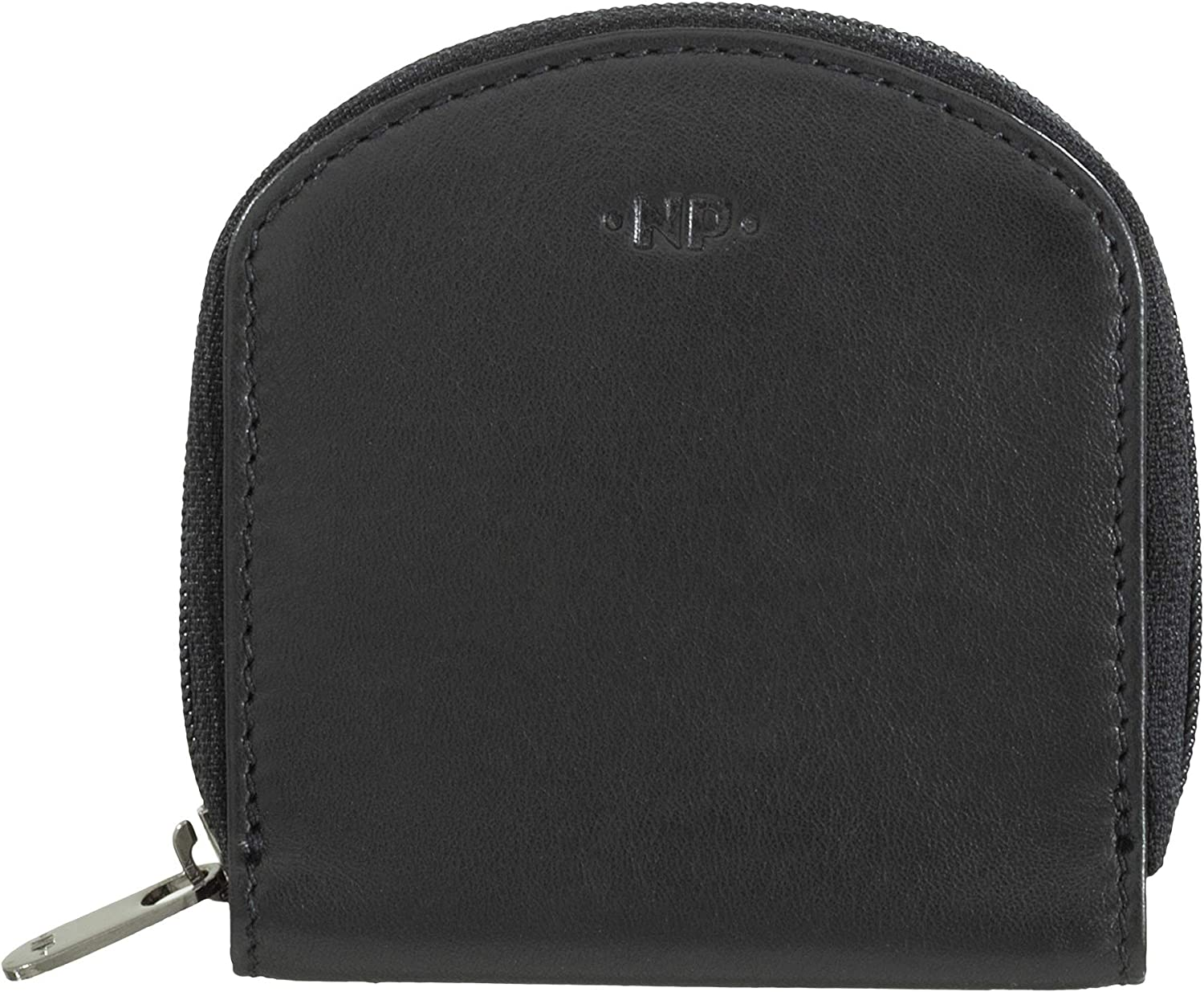 Nuvola Pelle Coin Purse in Soft Leather Nappa Coin Tray Well Shape with Zipper Around