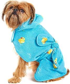 Tineer Pet Bathrobe Super Water Absorbent Puppy Bath Towel Quick Drying Soft Bathrobe Keeps Your Dog Cat Clean Warm Blanket XS, Purple